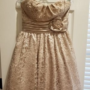 Cute gold party dress